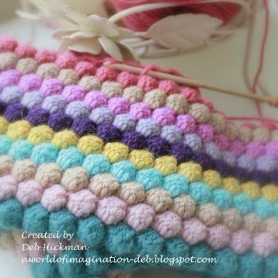 Crochet Bobble Blanket.---