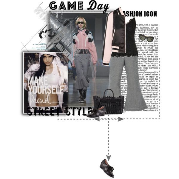 Sporty girl by noconfessions on Polyvore featuring Maje, Paper London, Gold Hawk, Taryn Rose, Paco Rabanne, Victoria Beckham, VFiles and NIKE