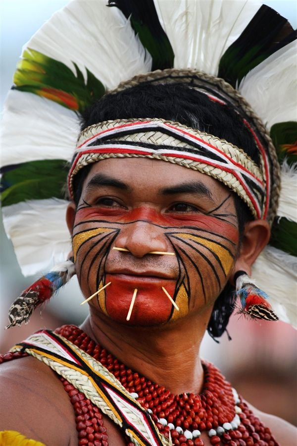 Pataxo Indian at the Indigenous Game Brazil