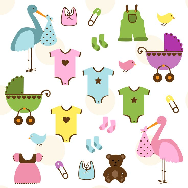 Baby Clip Art Clipart, Baby Shower Clip Art Clipart - Commercial and Personal. $6.00, via Etsy.