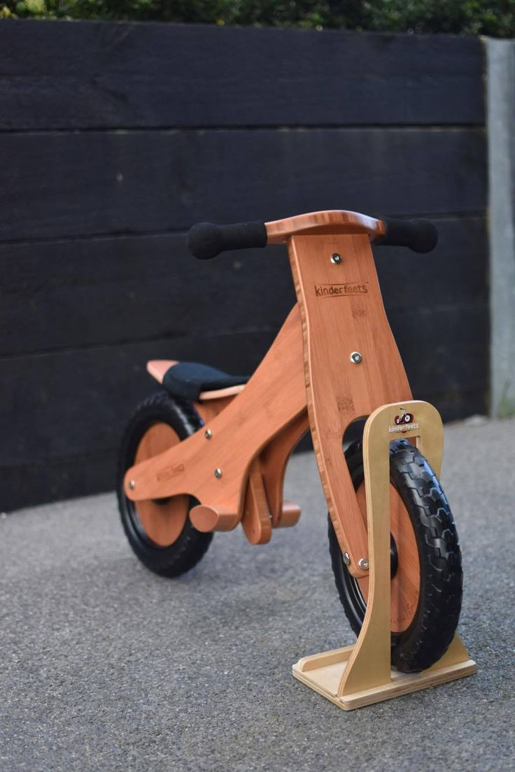 Kinderfeets Classic Bamboo Wooden Balance Bike. Perfect for ages 2+