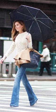 Rainy day street style.