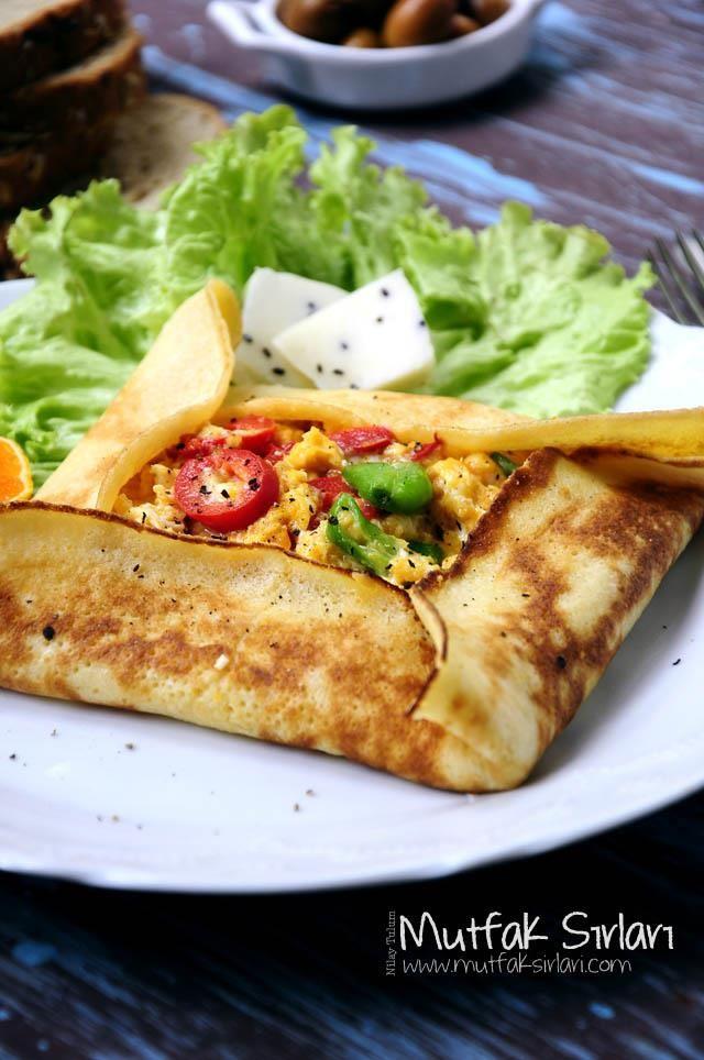 Krepte Peynirli ve Biberli Yumurta Tarifi | Mutfak Sırları