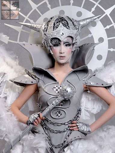 毛戈平化妆学校优秀学生作品之宇宙精灵