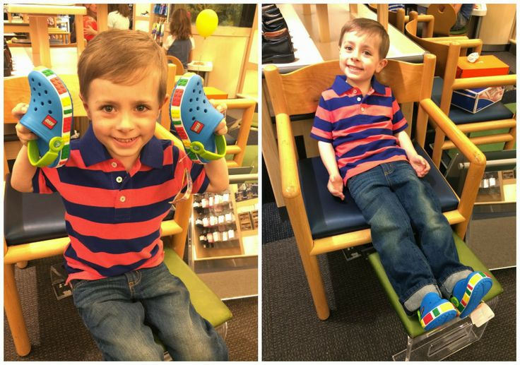 Lego crocs!  WHAT?  My  little guy was SO excited!