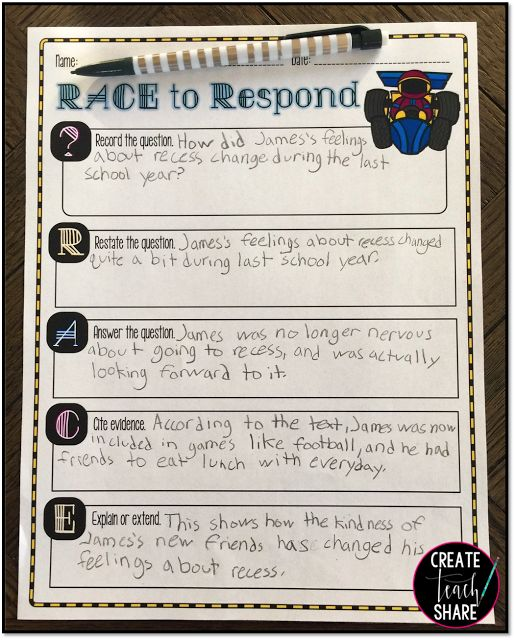 Upper Elementary Snapshots: RACE to Respond to Reading