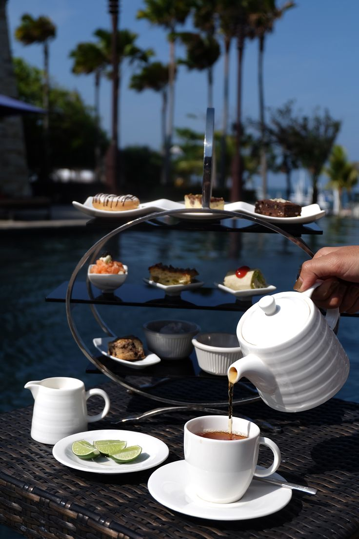Any day is celebratory with a view and spread like this. Indulge on our afternoon tea set with your loved ones at the Sakala Beach Club!   #Sakalabali #Sakalaresort #Sakalabeachclub