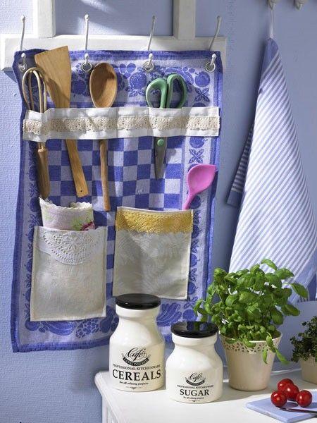 Aus Einem Alten Stoffrest Wird Ein Hübsch Verziertes Accessoire Für Die  Landhaus Küche.