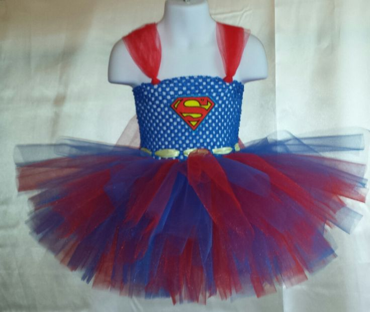 Supergirl / Superman tutu for Halloween.  Sizes by InspiredTutus, $39.99
