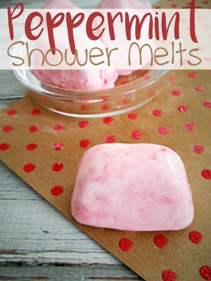 DIY Peppermint Shower Melts