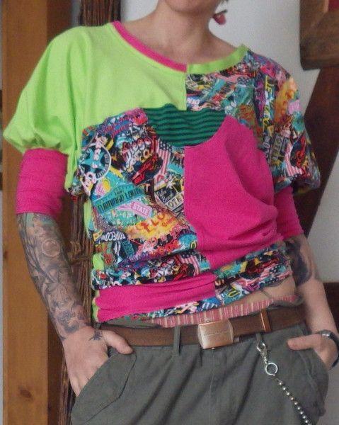 Punk/Rock/Metal+Neon+Shirt+Fledermaus+von+Die+Revoluzzer+auf+DaWanda.com