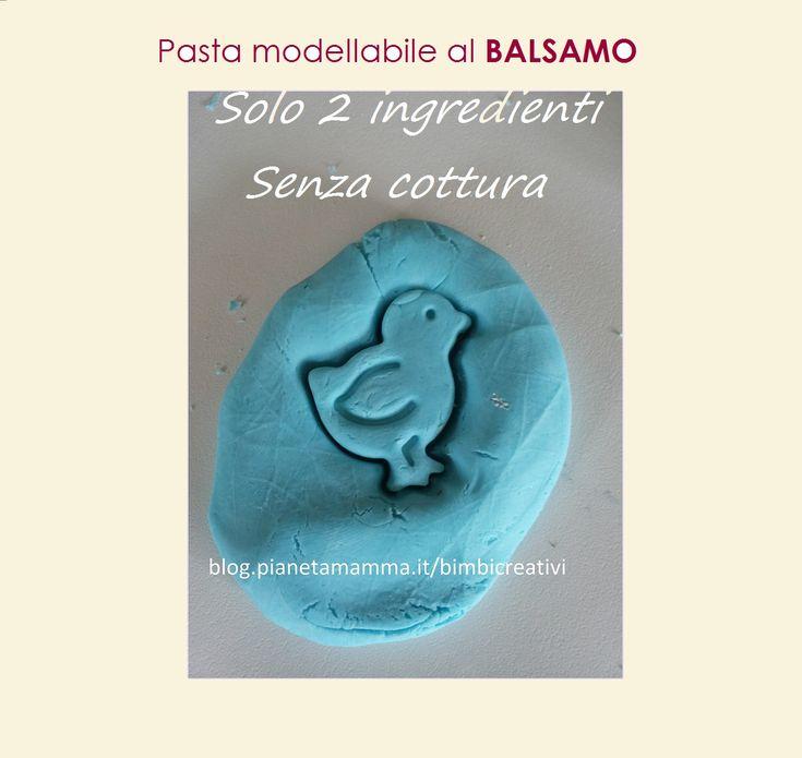 Pasta modellabile al Balsamo (2 ingredienti / Senza cottura)