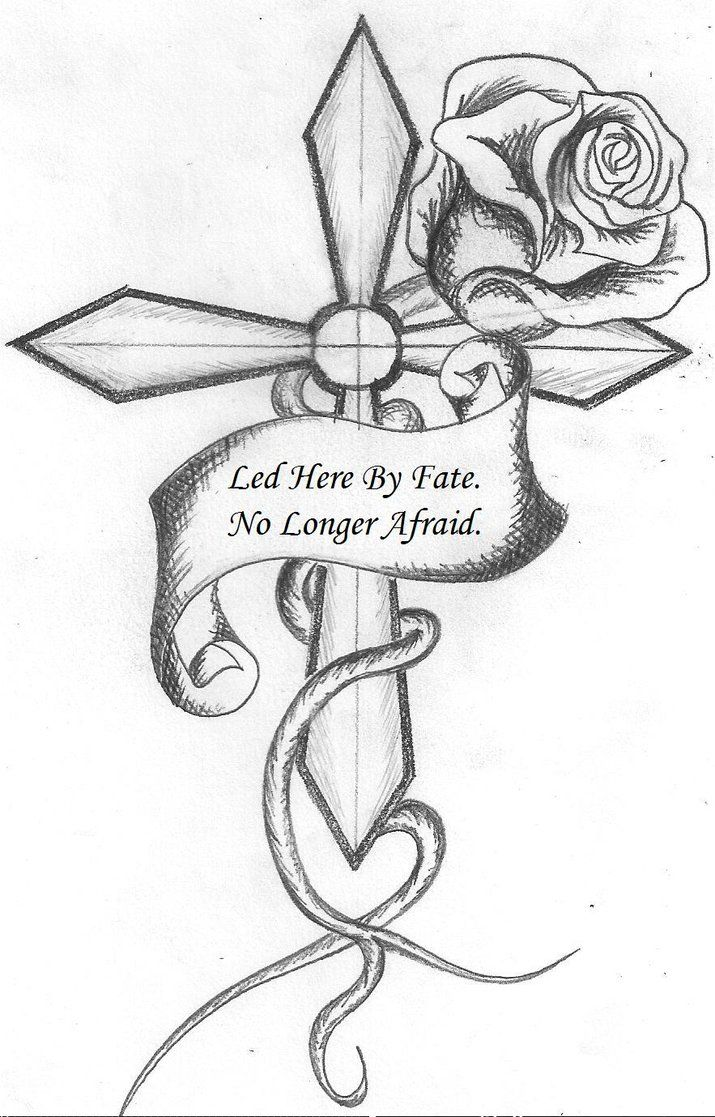 Cool drawings of roses and hearts 715 1117 for Coloring pages of crosses and roses