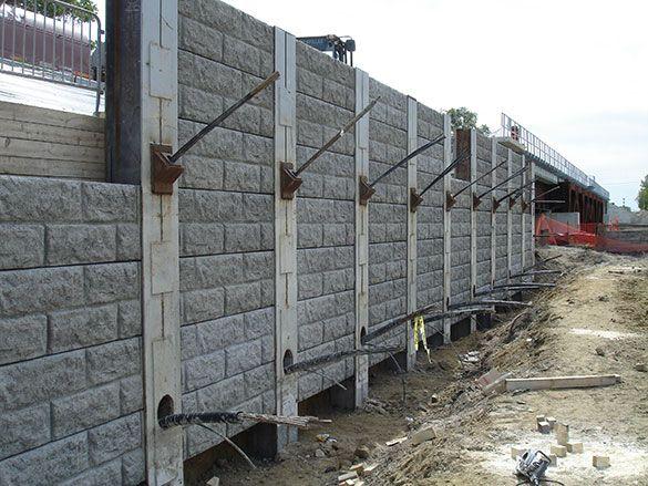 soldier pile retaining wall design pdf