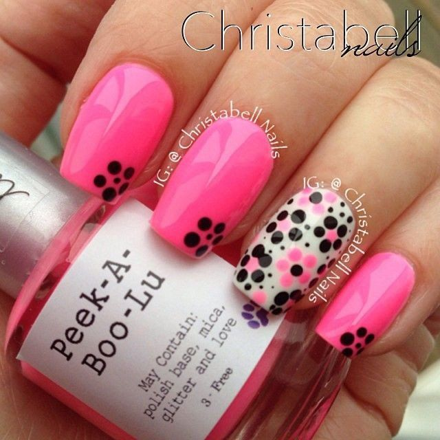 Lovely Pink Nail Art Design