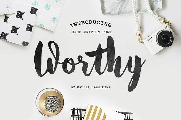 Worthy Roman&Cyrillic Script by Katsia Jazwinska on @creativemarket