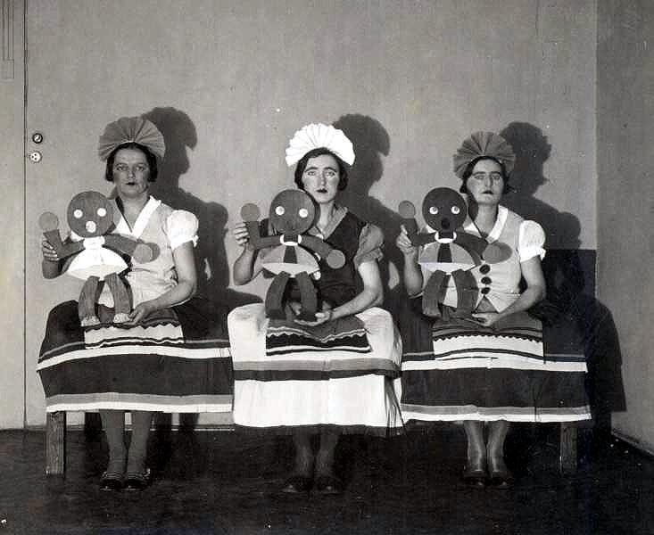 Them with their dolls. 1931