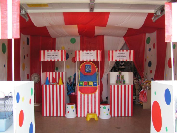 Homemade Carnival Booths | Prizes for the games. I started picking stuff up in January.