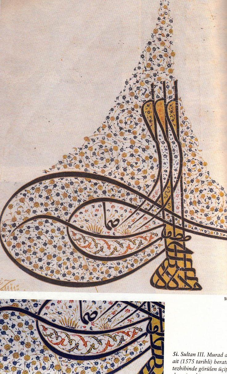 Sultan III.Murat Devrine Ait Tuğra Tezhibi