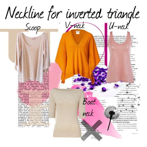 The Best Necklines for Inverted Triangle BodyShape find more women fashion ideas…