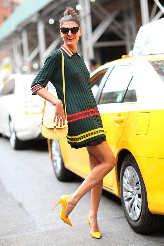 Giovanna Battaglia. Inspírate con los estilismos a pie de calle de 'it girls', modelos, 'bloggers' o especialistas en moda que acuden a los desfiles de la primera pasarela de temporada: MBFW.