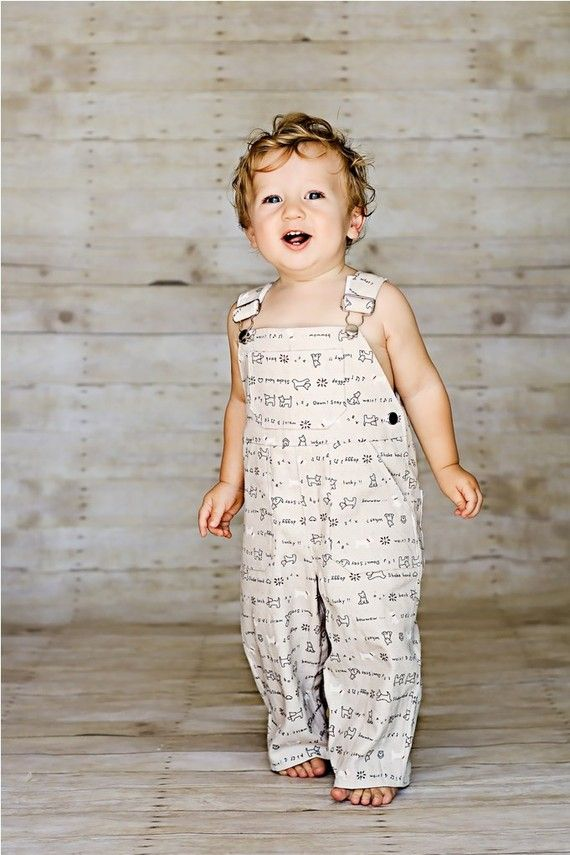 Overall in Burlapey Pups by OverallBaby on Etsy