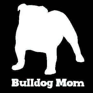 Bulldog Mom Vinyl Car Window Decal