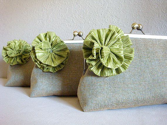 Flower Clutch Purse Bag by Lolis Creations by loliscreations, $58.00