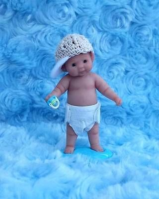 Miniature OOAK hand SCULPTED dollhouse 1/12 BABY/TODDLER clay ART doll NOT TOY