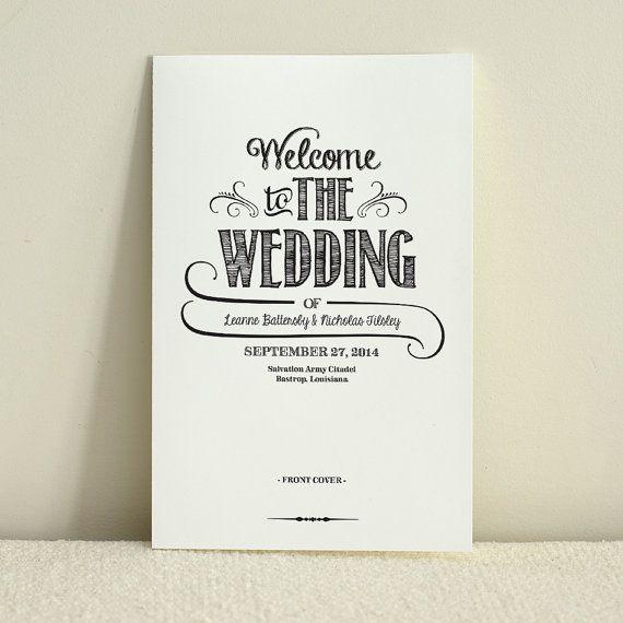 DIY Wedding Program / Order of Service by AmyAdamsPrintables