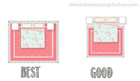 Easy diagram for bedroom area rug placement!
