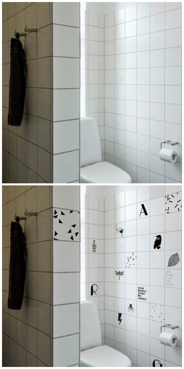 tilejunkie dekoration af fliser på badeværelse