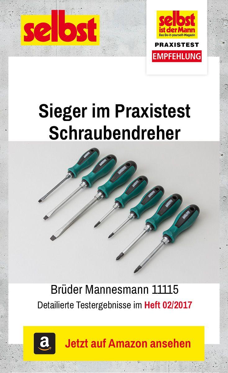 Der Schraubendreher Brüder Mannesmann 11115 ist Testsieger im Praxistest Schraubendreher. Wir haben 13 Sets getestet.