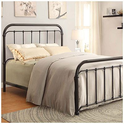 i found a queen black metal bed frame at big lots for less find more headfoot boards at