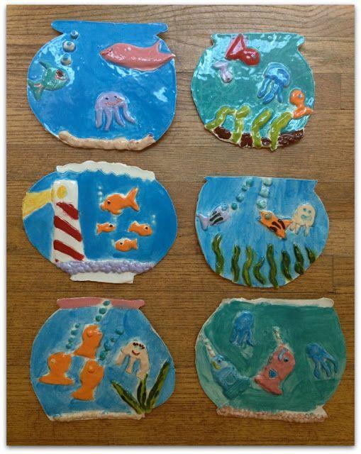 clay fishbowls | Art Ideas for Kids | Pinterest