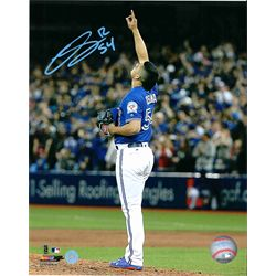 Osuna,R Signed 8x10 Unframed Blue Jays Blue Pointing up-V