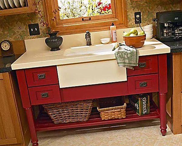 Stand Alone Sink : Contemporary Stand Alone Kitchen Sink Dreaming of kitchen Pintere ...