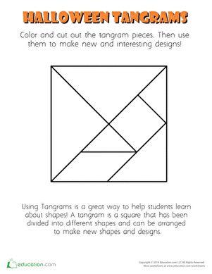 halloween tangram template halloween worksheets tangram. Black Bedroom Furniture Sets. Home Design Ideas