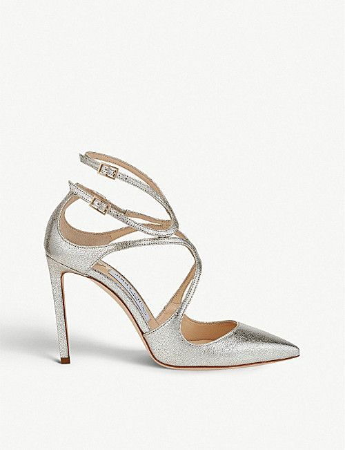 d910218e3df JIMMY CHOO Lancer 100 glitter leather pointed courts | Shoes in 2019 ...