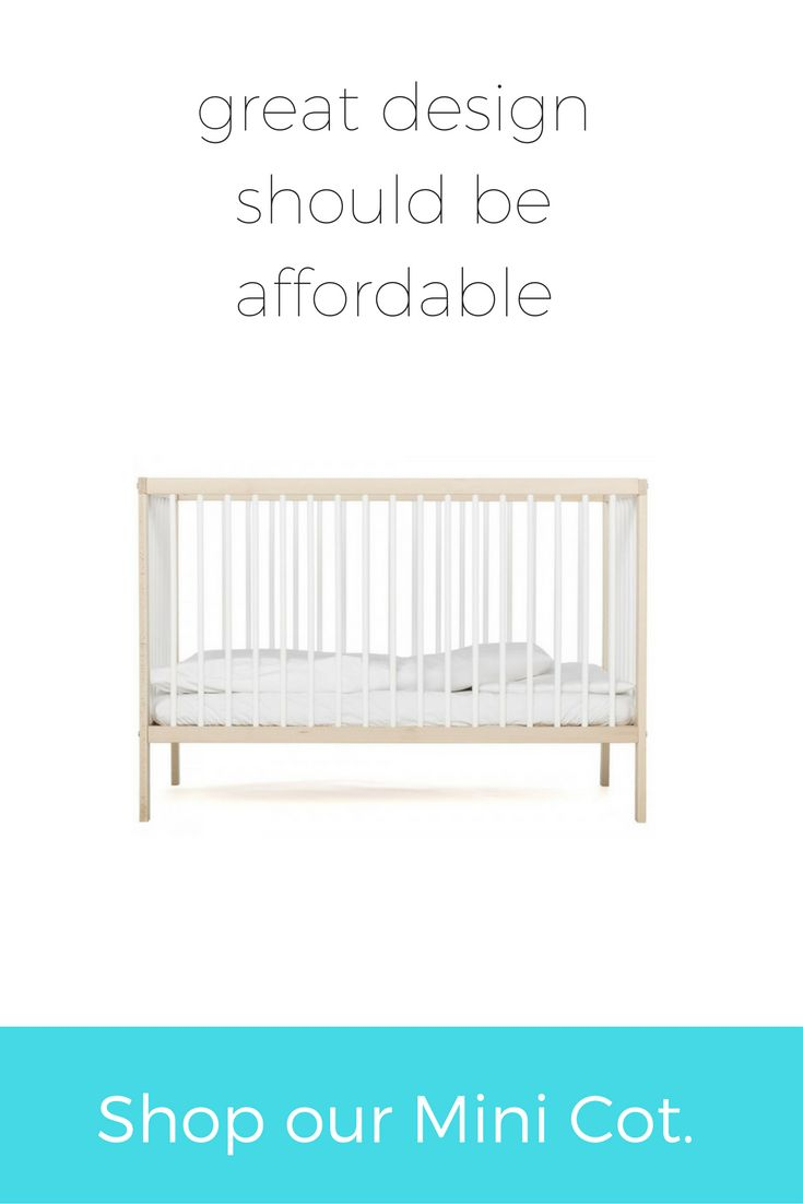 Our Mini Cot is minimalist and Scandi-inspired. Because your baby should appreciate great design early on. #wearemoKee