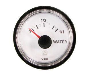 En oferta Reloj ViewLine VDO Blanco Nivel de Agua 10 - 180 Ohm 52 mm
