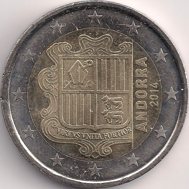 Motivseite: Münze-Europa-Südeuropa-Andorra-Euro-2.00-2014