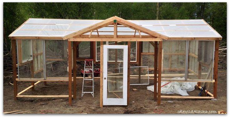 Recycled Greenhouse - IdlewildAlaska