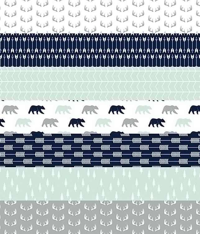 Baby Boy Quilt, Woodland Minky Quilt, Arrow Bear Navy Mint Gray Grey, Boy Crib Bedding, Baby Boy Blanket, Woodland Nursery Quilt, Modern