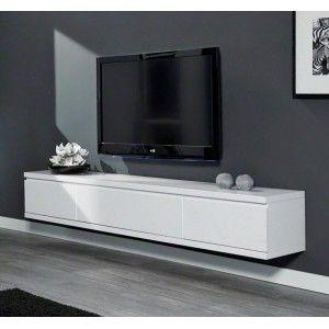 Gezien op Beslist.be: Zwevend Tv Meubel Cameron 200cm - Mat Wit
