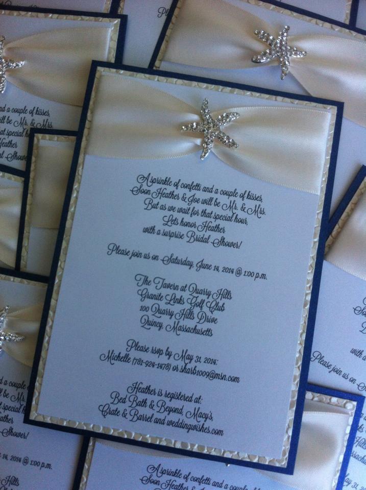 Destination Wedding Invitation Starfish Invitation Destination Wedding