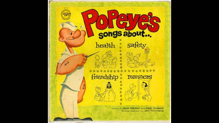 "Jack Mercer & Mae Questel (as Popeye & Swee'Pea) - I Have A Little Friend From the Golden LP ""Popeye's Songs about Health, Safety, Friendship & Manners"", released in 1961."