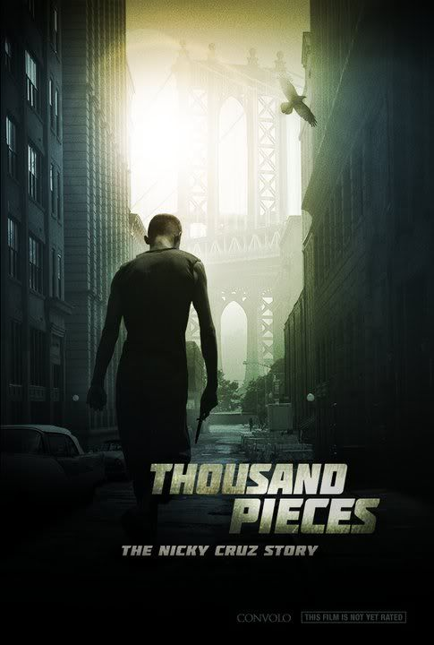 Thousand Pieces: The Nicky Cruz Story (Run Baby Run) - Christian Movie/Film on DVD.  In 1938, Nicky Cruz was born in the countryside of Puerto Rico. Brought up in a spiritual nightmare of witchcraft and brutality, he screamed out his aggression all the way to the streets of New York City. http://www.christianfilmdatabase.com/review/thousand-pieces-the-nicky-cruz-story-run-baby-run/