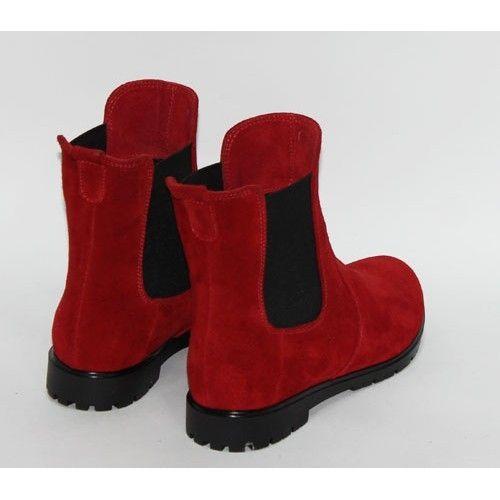 """Обувь Красные замшевые ботинки """" Челси"""""""