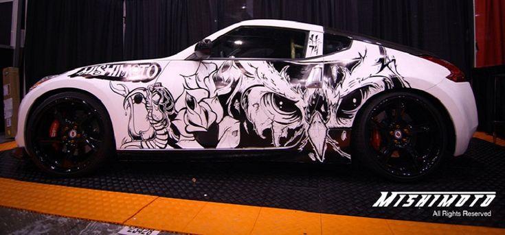 Nissan 370z Art Cars Car Painting Sharpie Art